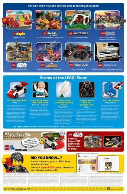 Calendario LEGO Store Maggio 2017 retro