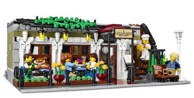 Edifici Modulari LEGO con minifigure a pranzo