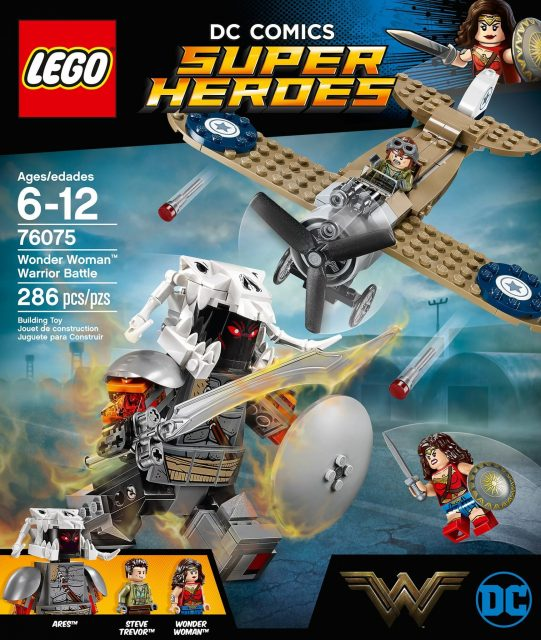 La confezione del set LEGO Wonder Woman Warrior Battle (76075)