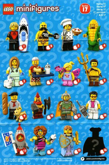 Scheda Minifigure LEGO Serie 17