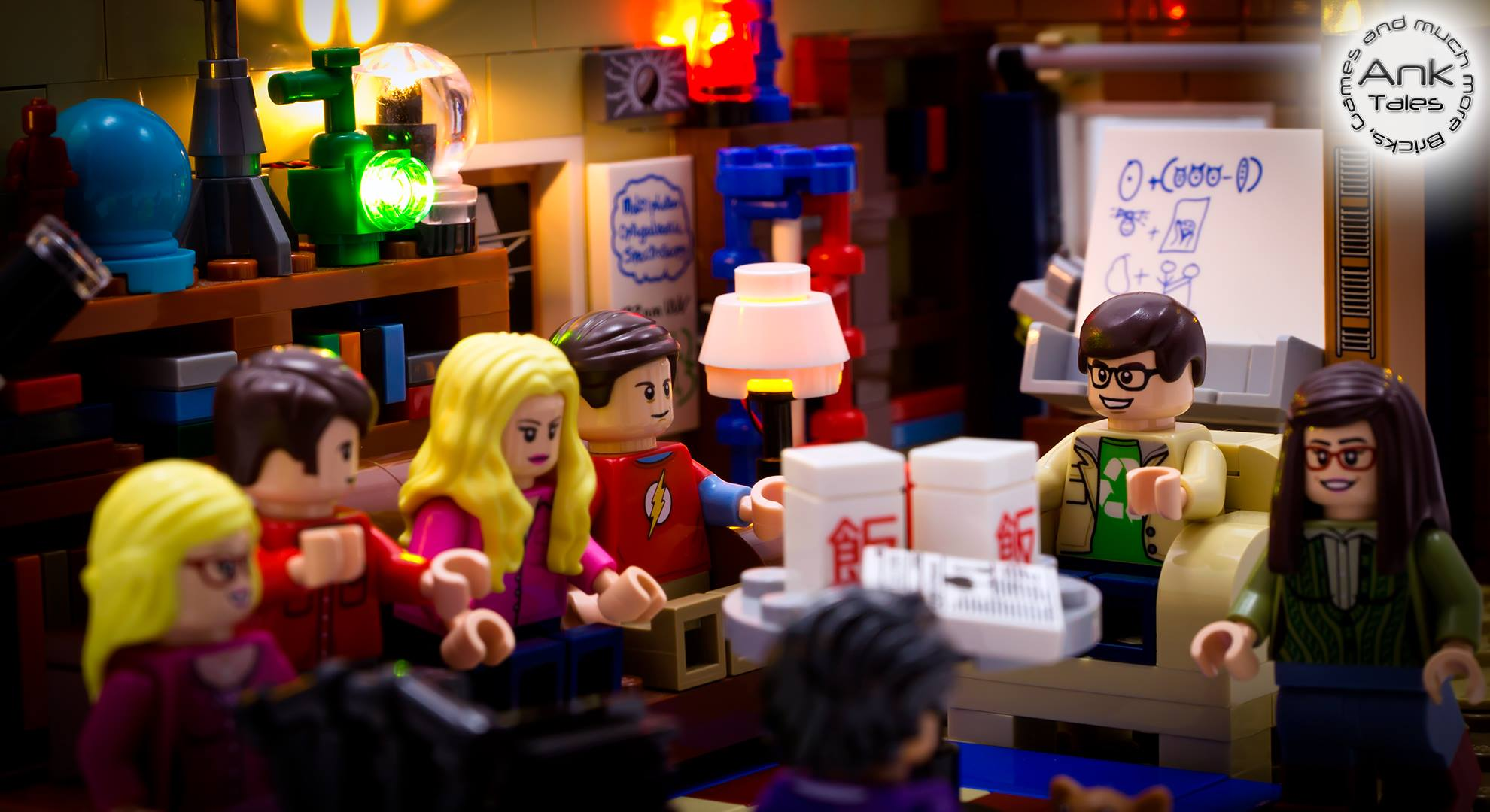 Illuminazione lego il kit per big bang theory nel video di