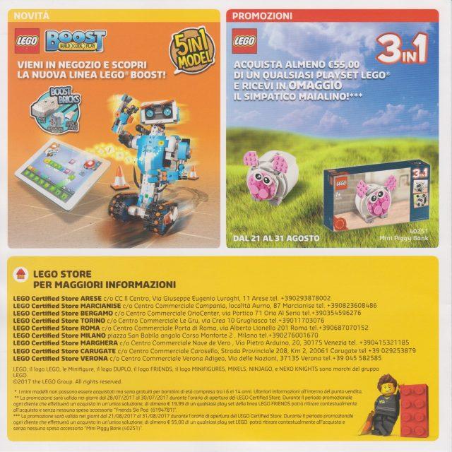Promozioni LEGO Store Luglio Agosto 2017