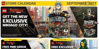 Calendario LEGO Store USA Settembre 2017
