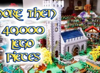 LEGO Diorama Medievale Trentino