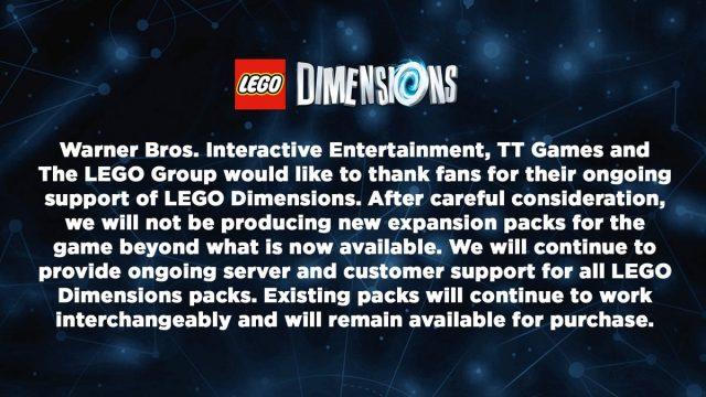LEGO Dimensions: L'Annuncio della Cancellazione