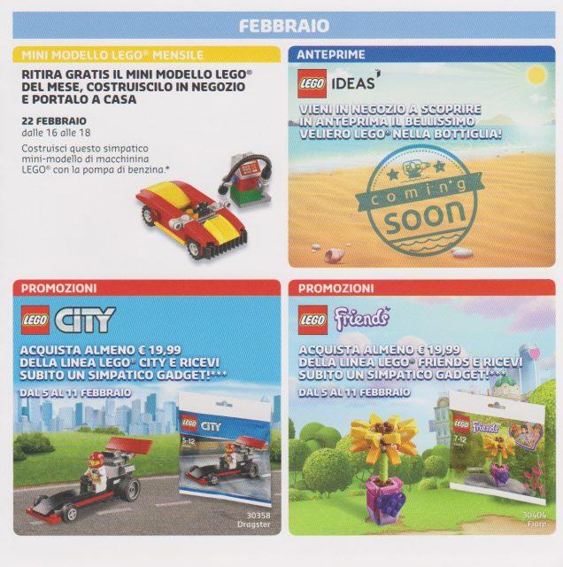 Promozioni LEGO Store Italia Gennaio Febbraio 2018