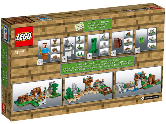 LEGO Minecraft 21135 - Crafting Box 2.0 scatola retro