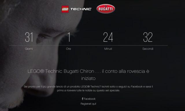 Conto alla Rovescia per Bugatti LEGO Chiron