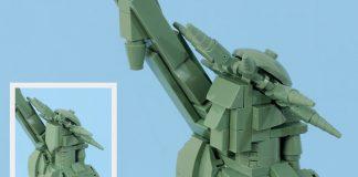 Statua della Libertà LEGO Architecture (21042) modifica del volto