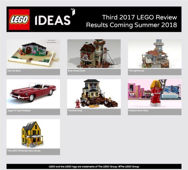 Terza Fase di revisione 2017 LEGO Ideas