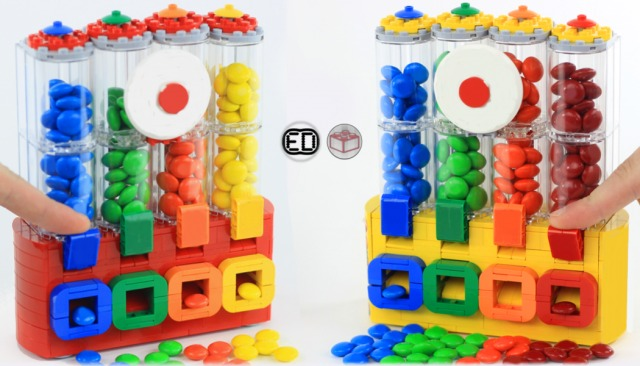 LEGO Ideas M&M's Chocolate Candy Dispenser