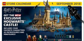 Calendario LEGO Store USA Settembre 2018