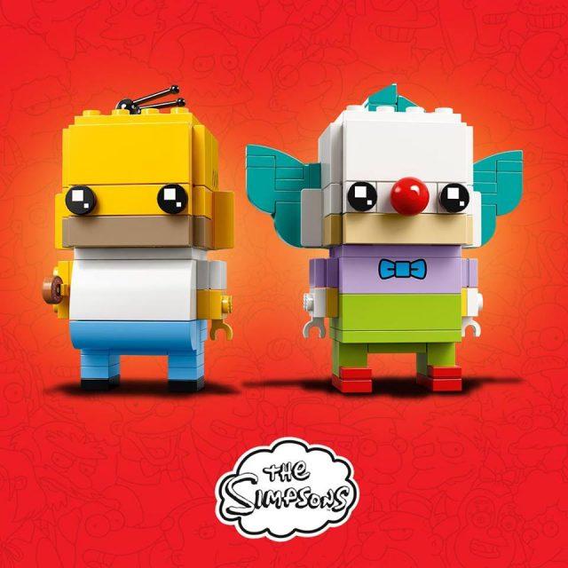 LEGO BrickHeadz The Simpsons Homer & Krusty the Clown (41632)