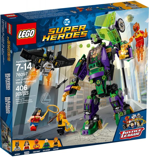 LEGO DC Comics Super Heroes 76097 - Duello Robotico Con Lex Luthor Scatola