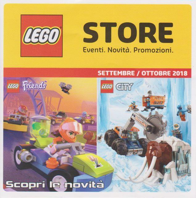 Promozioni LEGO Store Italia Settembre Ottobre 2018