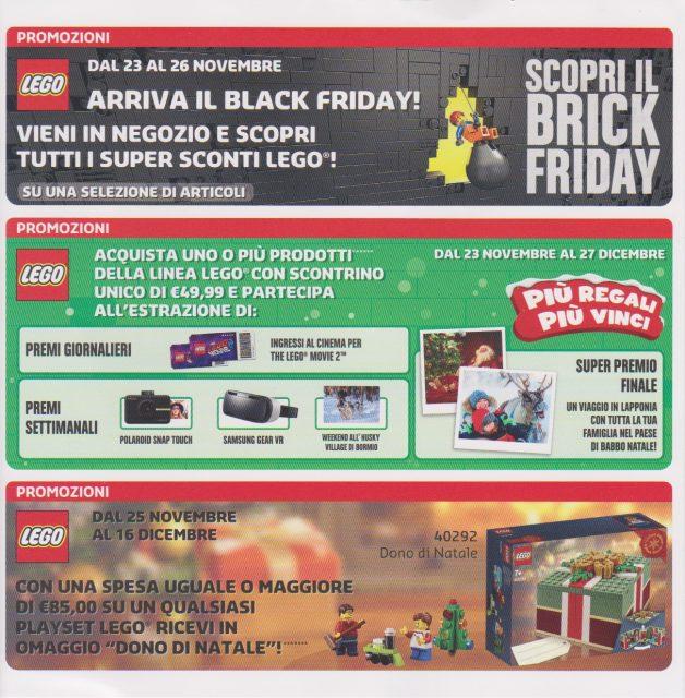 Volantino del LEGO Store Italia Novembre – Dicembre 2018