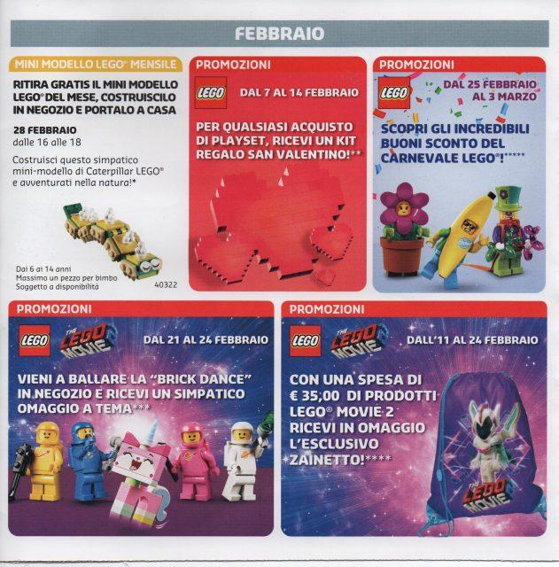 Volantino LEGO Store Italia Gennaio - Febbraio 2019