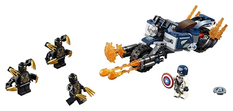 LEGO Marvel Super Heroes Avengers- Endgame Captain America Outriders Attack (76123)