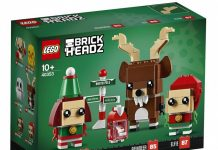 LEGO Brickheadz Christmas Reindeer, Elf, and Elfie (40353)