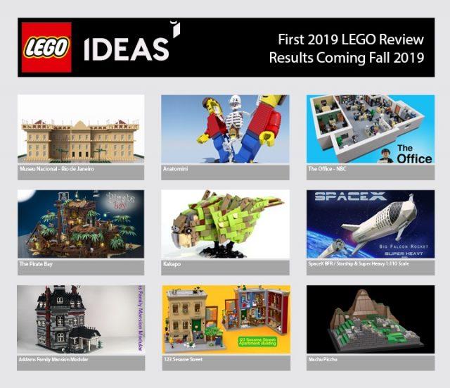 prima fase di revisione lego ideas 2019