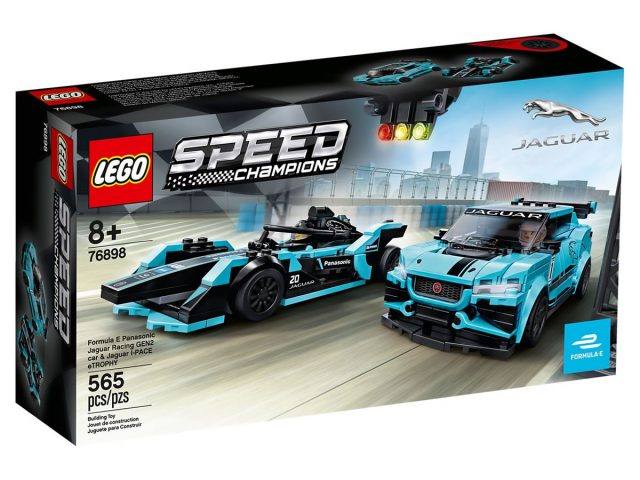 LEGO Speed Champions - Formula E Panasonic Jaguar Racing GEN 2 car & Jaguar I-PACE eTROPHY (76898)