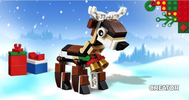 Renna LEGO omaggio Natale 2019