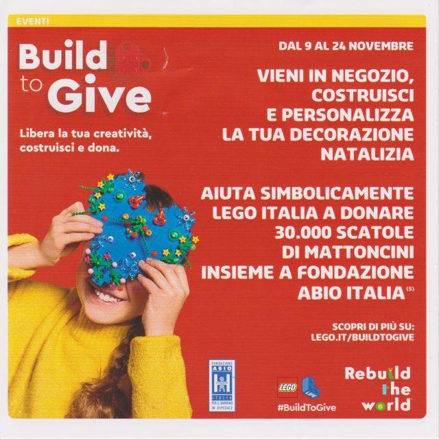 Promozioni LEGO Store Italia Novembre Dicembre 2019