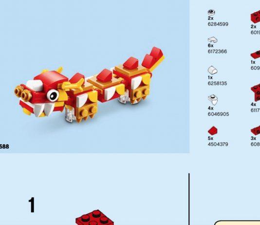 Istruzioni drago del capodanno lunare cinese (40395)
