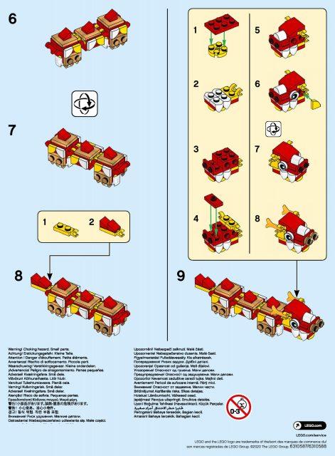 LEGO istruzioni drago capodanno cinese 2