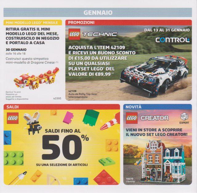 Promozioni LEGO Store Italia Gennaio Febbraio 2020