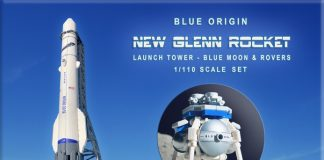 Blue Origin New Glenn Rocket, Launch Tower & Blue Moon Lander