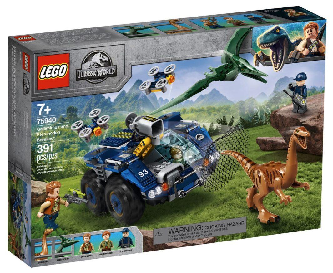 LEGO Jurassic World - Evasione di Gallimimus e Pteranodonte (75940)