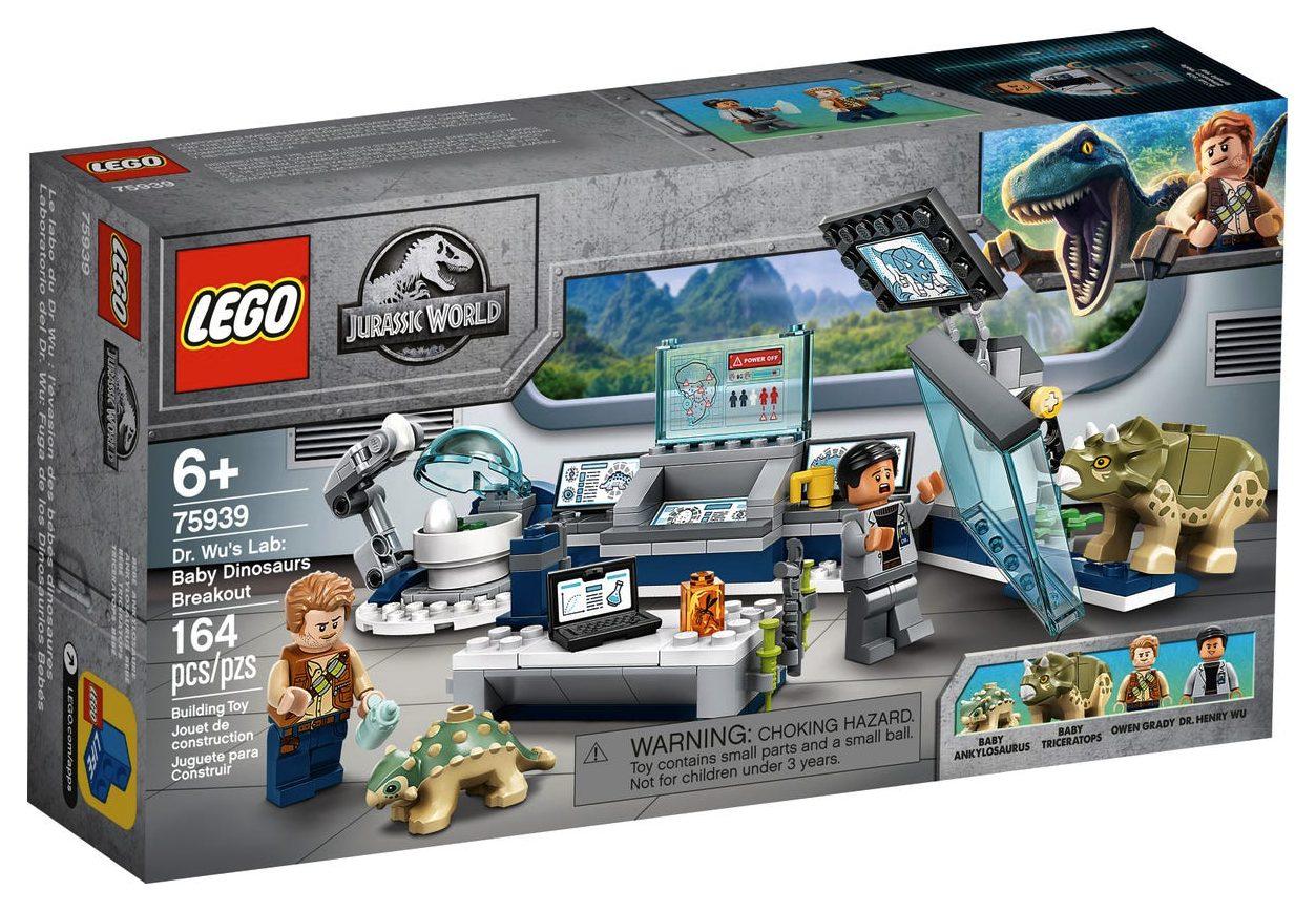 LEGO Jurassic World - Il Laboratorio del Dottor Wu Fuga dei Baby Dinosauri