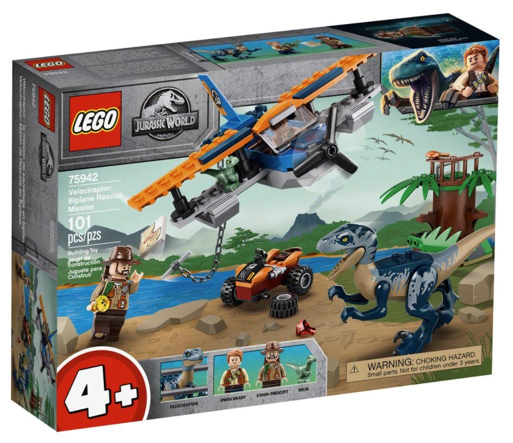 LEGO Jurassic World - Velociraptor Salvataggio in Biplano (75942)