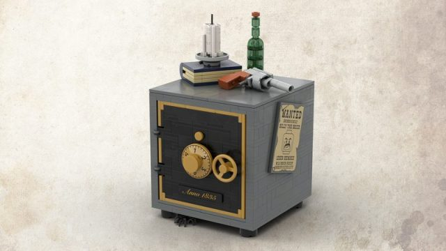 Sheriff's safe with combination lock