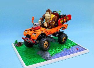 Scimmione su veicolo