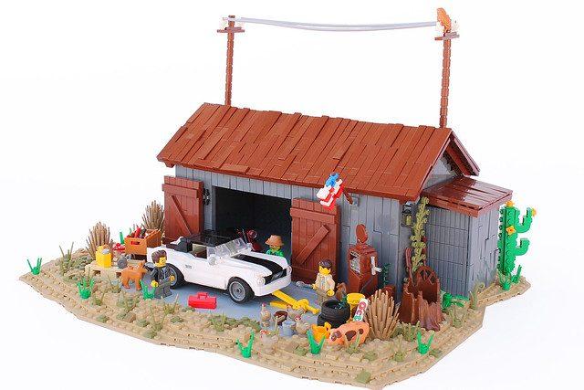 Fienile con Mustang