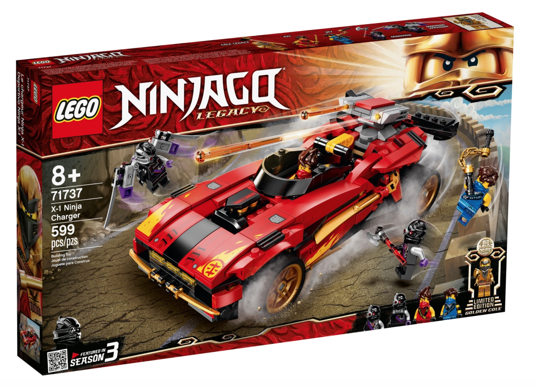 LEGO Ninjago 71737 - Super-bolide Ninja X-1 00001