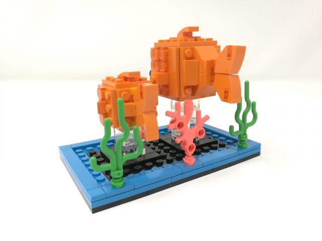 LEGO BrickHeadz Pesciolino rosso (40442) e Pappagallino (40443)